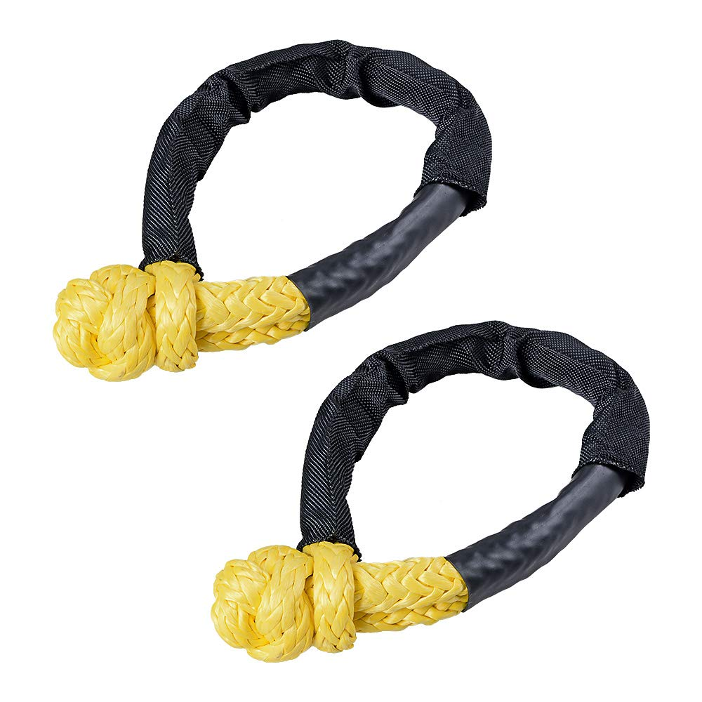 Anzio Pair of Synthetic Soft Shackle 1/2' (Max 38,000 lbs) Yellow