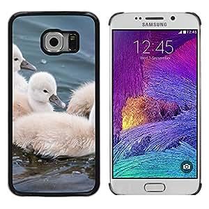 TopCaseStore / la caja del caucho duro de la cubierta de protección de la piel - Furry Cute Small Pet Animal Bird - Samsung Galaxy S6 EDGE SM-G925