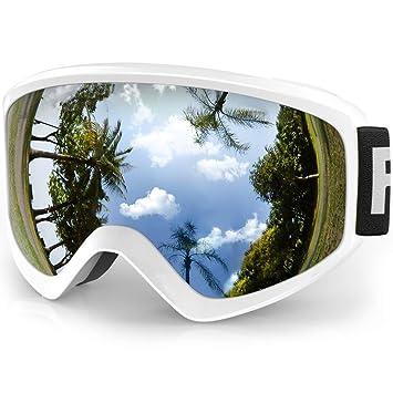 Findway Gafas Esqui Niño Mascara Esqui Niño Gafas de Esqui Niño Niña OTG Ajustable para Niños