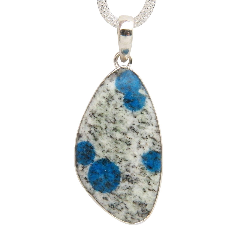 AA Rare K2 Top Drilled Pendant Natural Blue Azurite in Quartz Granite Real Genuine K2 Pendants from Pakistan Afghanistan