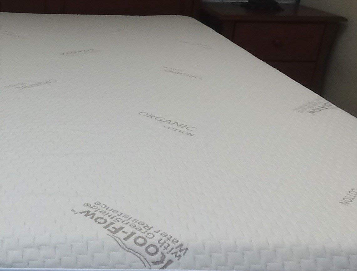 Snuggle-Pedic Memory Foam Mattress Protector Queen Relief-Mart Inc Kool-Flow Breathable Stretch Fabric All USA Made Best for Plush Beds Organic Cotton with Eco-Friendly Greenshield Water Resistance matt-protect