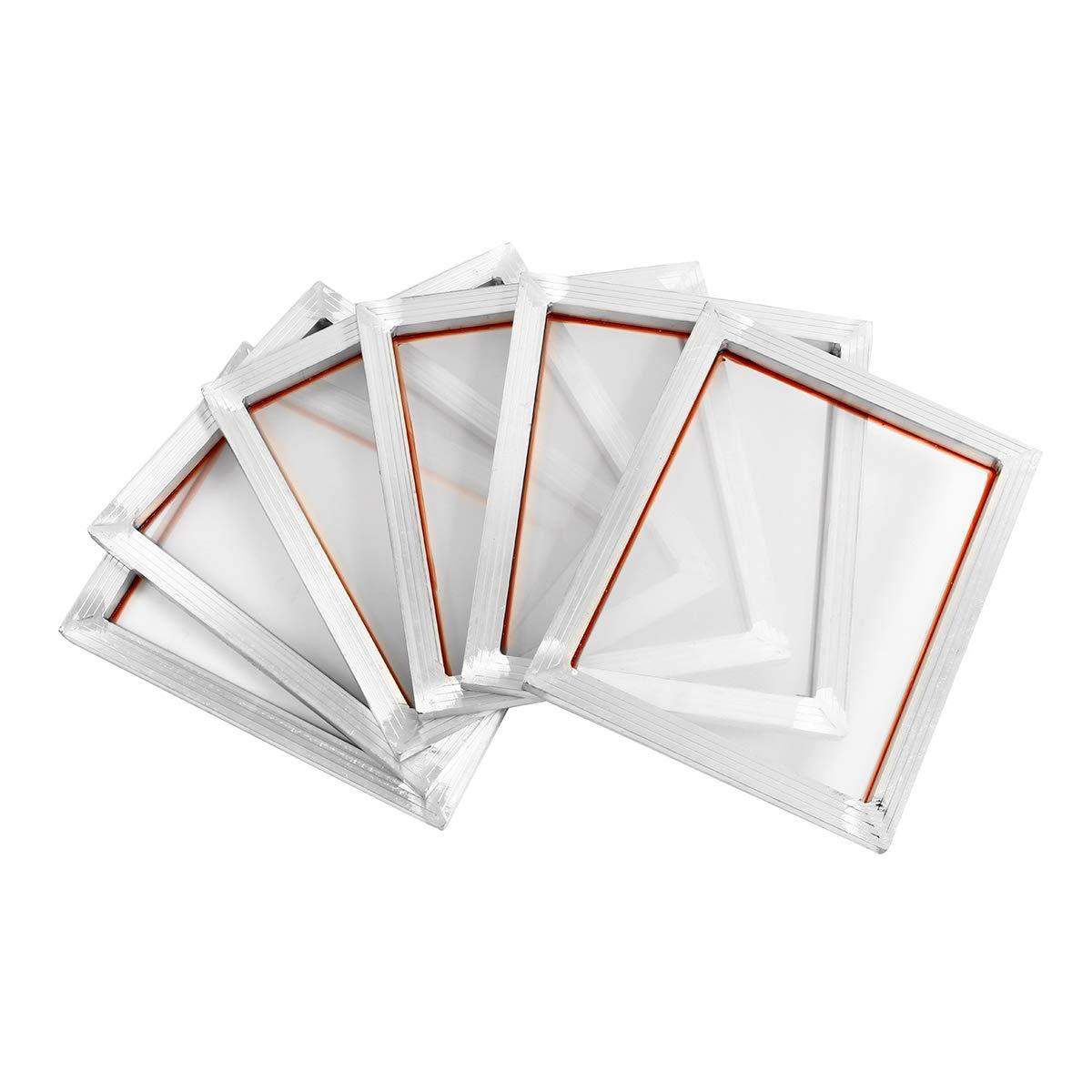 Sndy 6個の 14 ' x10 ' ' アルミ合金シルクスクリーン印刷フレーム w 110 ホワイトメッシュカウント   B07L94YWGX