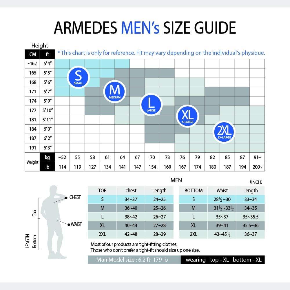 ARMEDES Mens Mock Neck Long-Sleeved T-Shirt Cool Dry Compression Baselayer AR-151//53