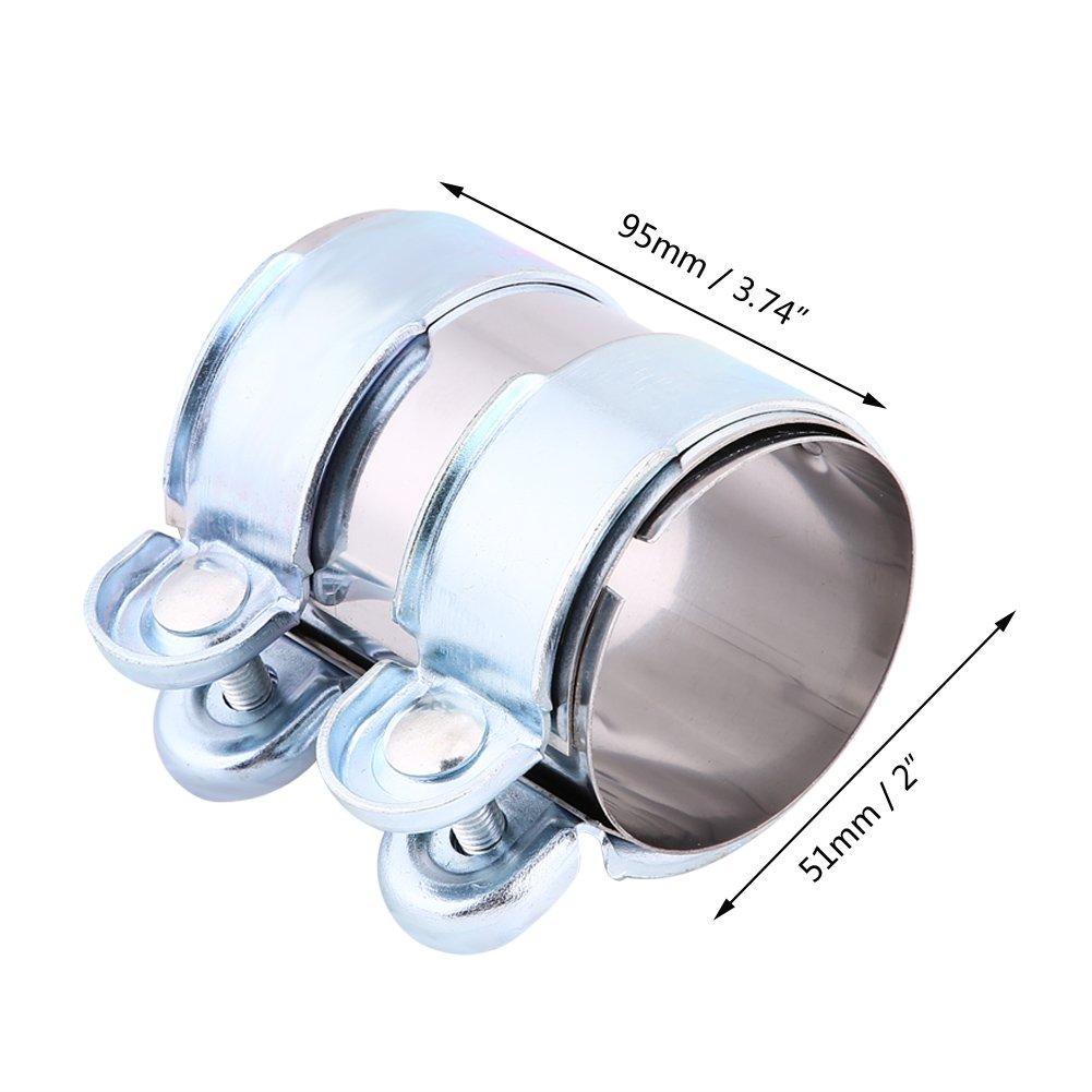 Morsetto di scarico marmitta in acciaio inox Turbo fascetta morsetto marmitta catback connettore w//bulloni 2.5inch