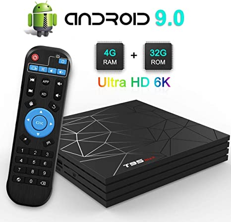 DOOK Android TV Box,T95 MAX Android 9.0 TV Box con 4GB RAM 32GB ROM Chip H6 Quad-Core Cortex-A53 2.4GHz WiFi Compatible 3D 6K Ultra H.265 Ethernet HDMI: Amazon.es: Deportes y aire libre