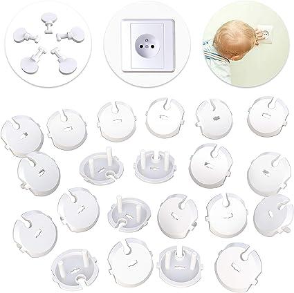2 clés pour protection des prises bébé SECURITE enfant Lot 10 cache prises