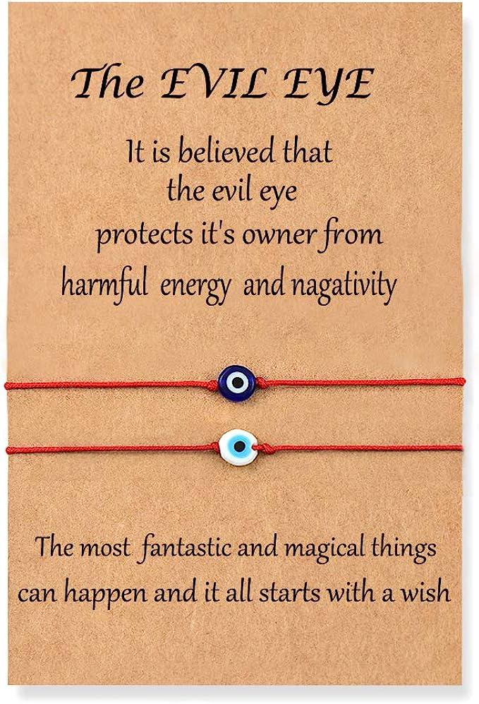 Gold Bird Charm  Red Thread Protection Evil Eye Handmade Unisex Bracelet