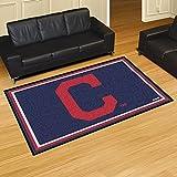 FANMATS 16917 FanMats MLB - Cleveland Indians Block-C Rug 5x8 60x92