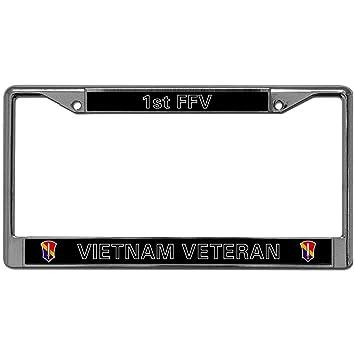 VIETNAM VETERAN Metal Chrome License Plate Frame