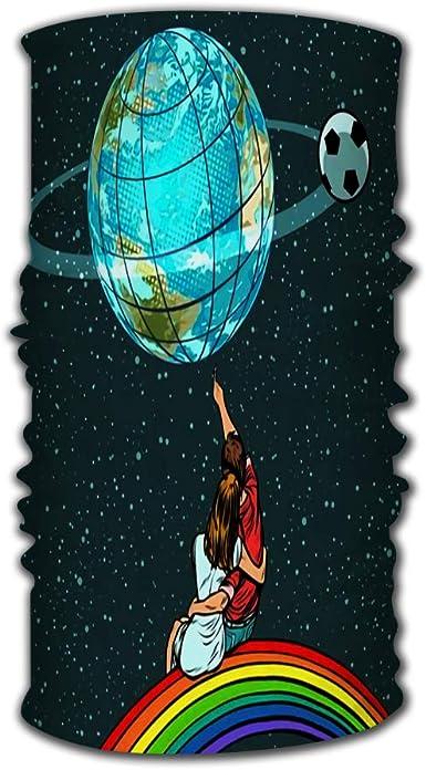 Sport Scarf Headbands Balaclava Cartoon Planets for Yoga Hiking Riding Motorcycling