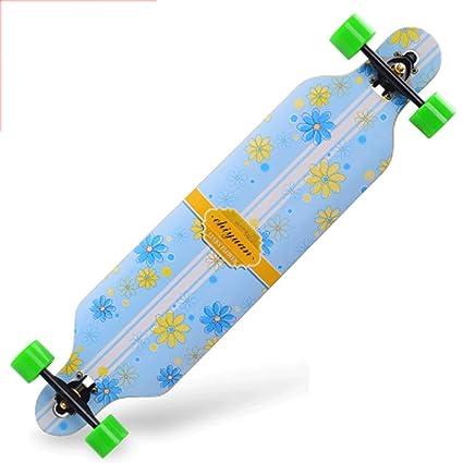 Road Skate Skateboard de Cuatro Ruedas Habilidades para la Calle Tablero de Baile para niños y