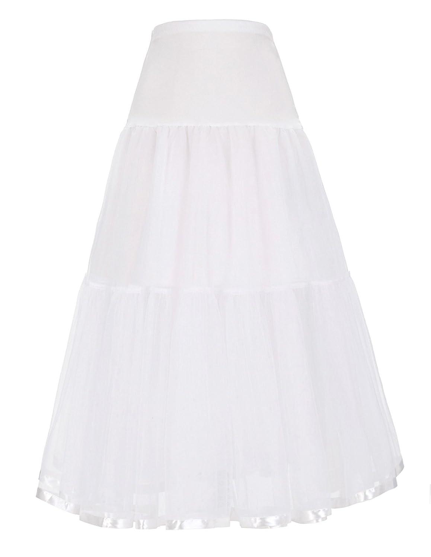 GRACE KARIN Women's Ankle Length Petticoats Bridal Underskirt Hoopless CL010747JS