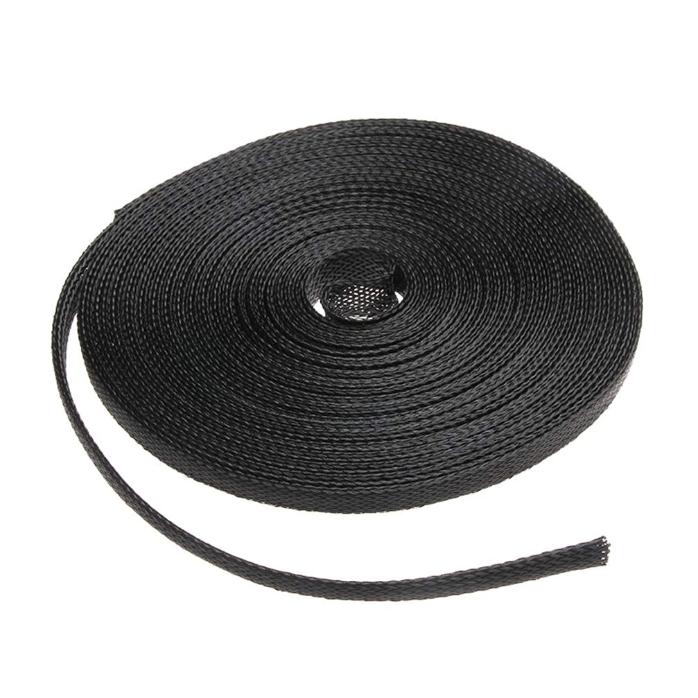 Black 10M Cable Sleeve 2/4/6/8/10/12/15/25mm Insulation Braided Tight PET Expandable Sleeves