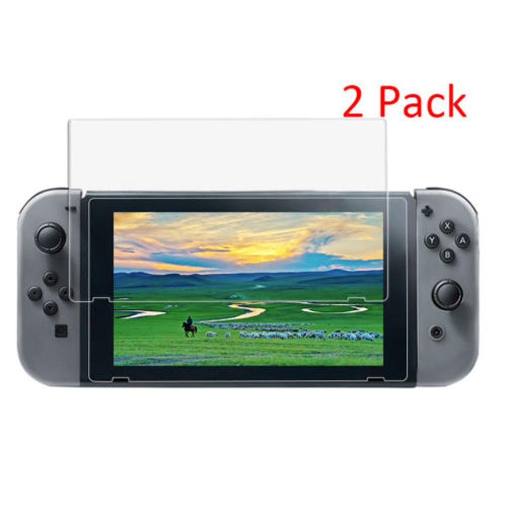 Vanvler Tempered glass Screen Protector Film Guard Sheet for Nintendo Switch Console Clear (2PCS) by Vanvler (Image #3)