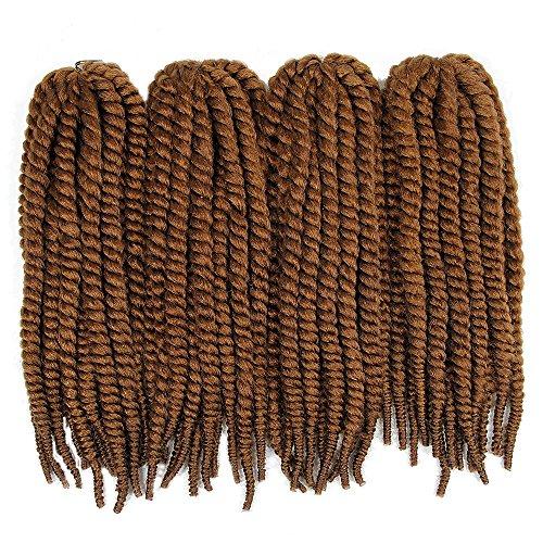 (4Packs/Lot)YXCHERISHAIR Multi Color Jumbo Ombre Senegalese Twist,Havana Mambo Twist Crochet Braids Medium,Synthetic Braiding Hair Extensions Heat Resistant (18 inch,4 Packs, - Havana Sale Brown For