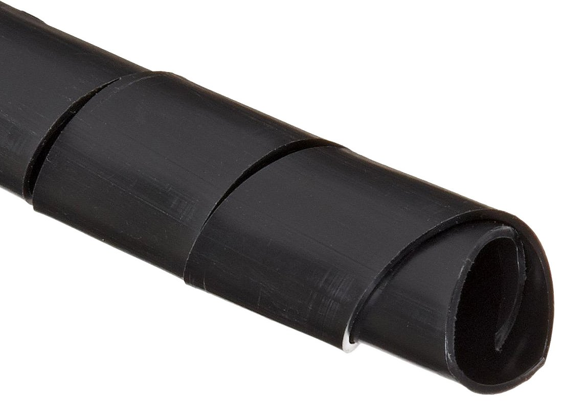 Morris Products Wire Spiral Wrap - UV Black - 33 Feet, .30-1.18 Bundle Range - Insulated Poly-ethylene Material - Twist On, Cut to Fit - Solvent, Abrasion Resistant - Reusable - 1 Roll