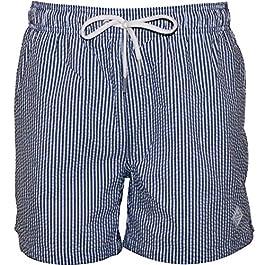 Gant Seersucker Men's Swim Shorts, Persian Blue