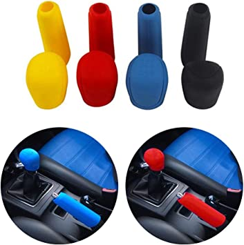 uxcell Universal Black Silicone Nonslip Hand Brake Cover Protector for Car Vehicle