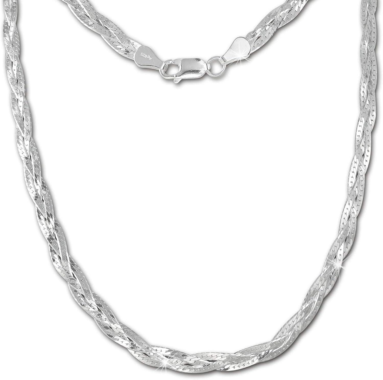 SilberDream Halskette Süßwasser Perle weiß 925 Sterling Silber Damen SDK1548W