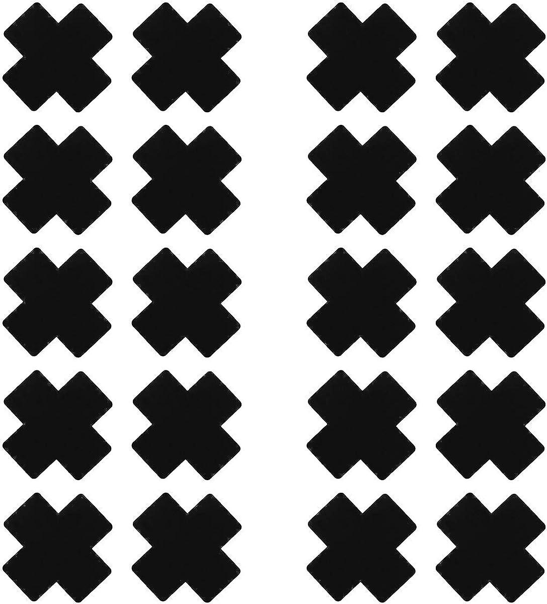 US 20Pcs Cross Shape Self-Adhesive Satin Nipple Covers Breast Pasties Stickers