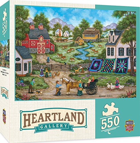MasterPieces Heartland Roadside Gossip 550 Piece Jigsaw Puzzle by Bonnie White Masterpieces Puzzles Games