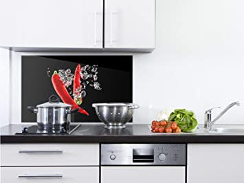 GRAZDesign 200121_60x40_SP Spritzschutz Glas für Küche/Herd | Bild ...
