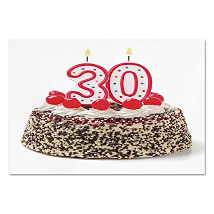 large number 30 birthday candle