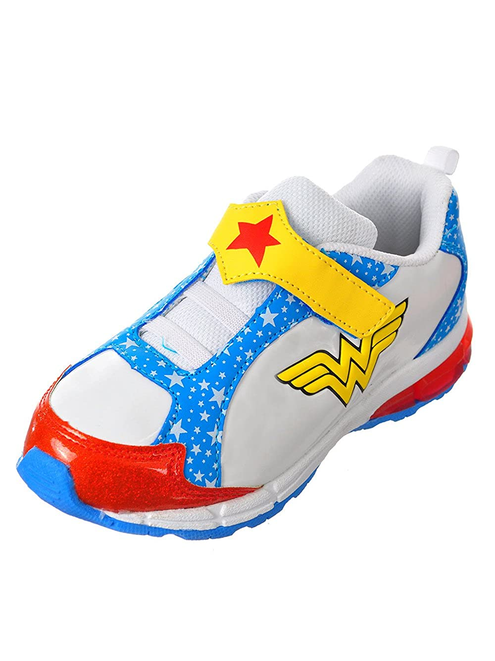 d8f5053affe8e Amazon.com: DC Comics Kids' Wonder Woman Toddler Girls' Glitter Athletic  Sneakers Cross Trainer: Shoes