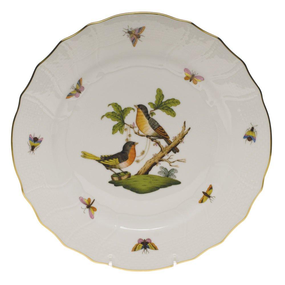 Herend Rothschild Bird Dinner Plate Motif #8