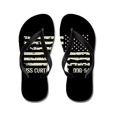 USS Curtis Wilbur - Flip Flops Funny Thong Sandals Beach Sandals