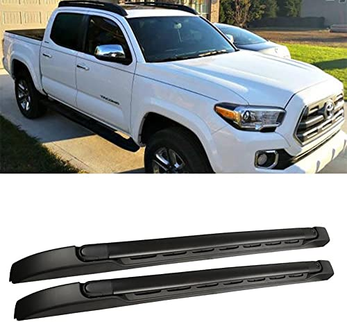 Gevog 1 Pair Black Roof Rack Top Rail Cargo Carries