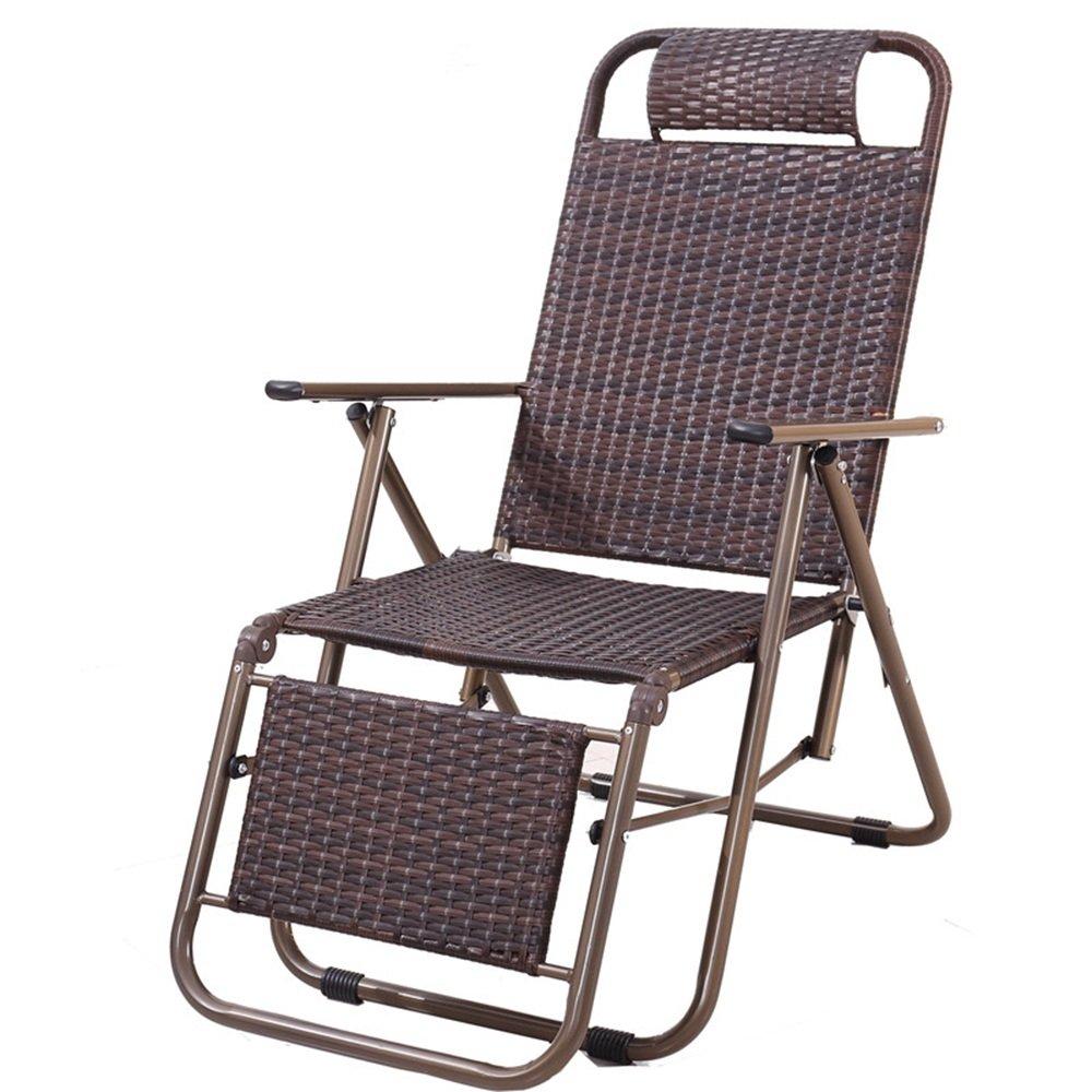 QFFL 手作りカジュアル折りたたみ椅子/オフィスシンプルなランチブレイクリクライニング/屋外ポータブル老人背もたれの椅子/実用的なビーチチェア アウトドアスツール (色 : C) B07F34FTG6 C C