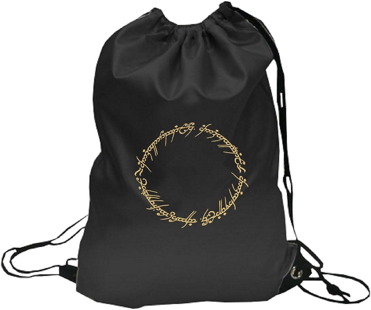 La One Anillo para Señor de los Anillos y el Hobbit Fans, cordón Mochila Mochila Mochila Escolar: Amazon.es: Ropa y accesorios