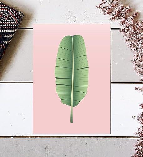 Amazon.com: Banana Leaf, Tropical Art, Banana Leaf Art, Palm Leaf ...