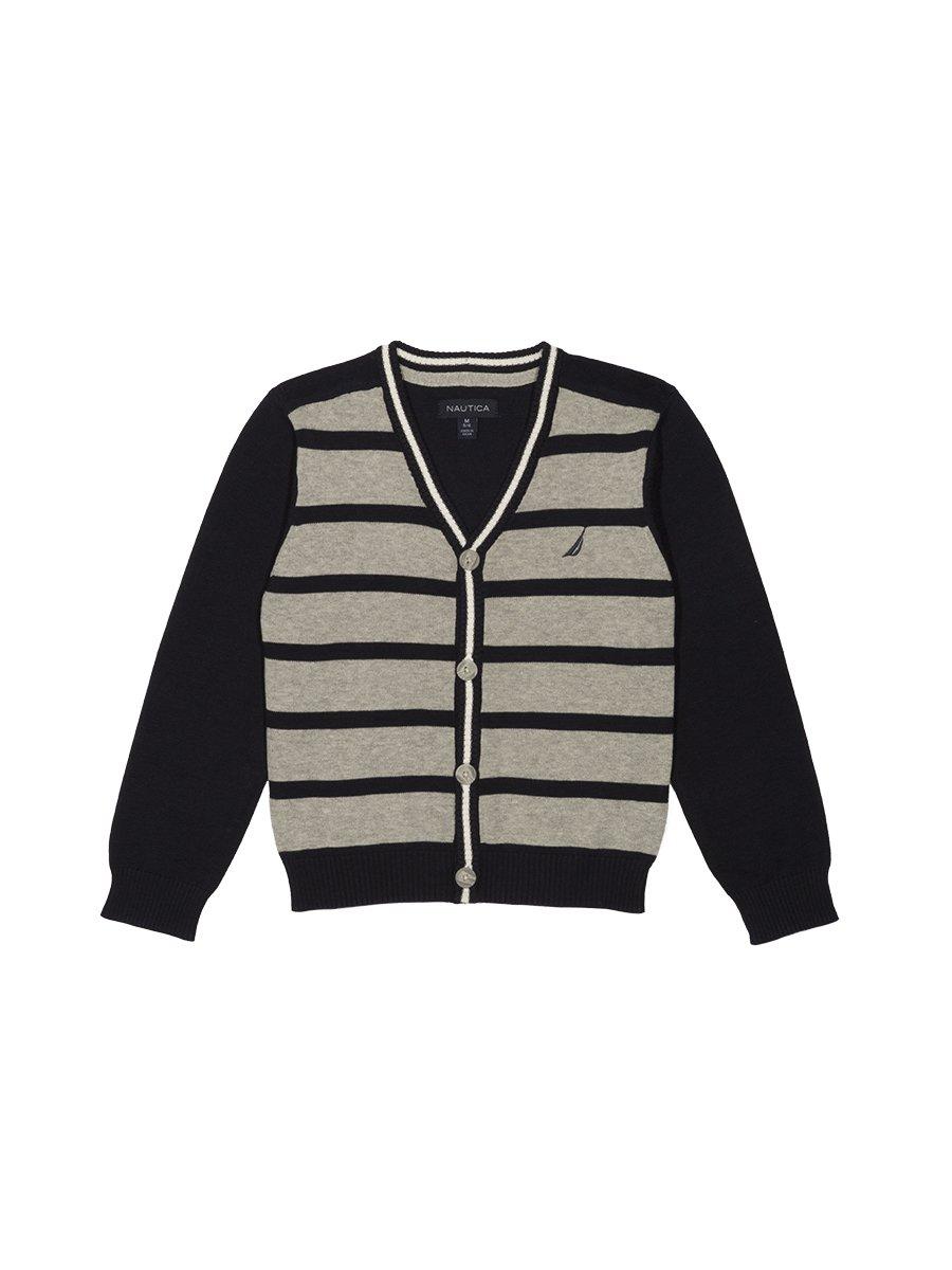 Nautica boys Stripe Cardigan Sweater