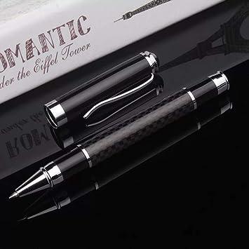 OMZGXGOD bonitos Bolígrafo, edición especial,estuche metalico boligrafos personalizados, punta intermedia (0,5 mm), tinta negra, estuche de
