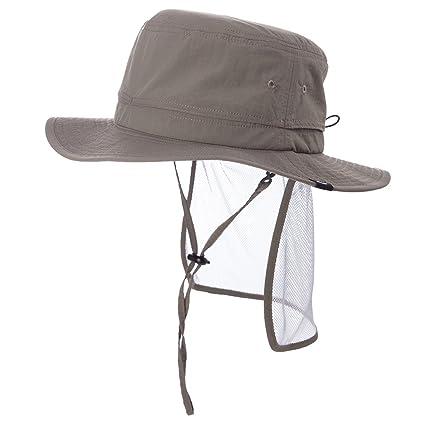 f492cf16 SIGGI Unisex Outdoor SPF 50+ Packable Boonie Hat Vented Crown&Lining Mens Bucket  Sunhat Cap ArmyGreen