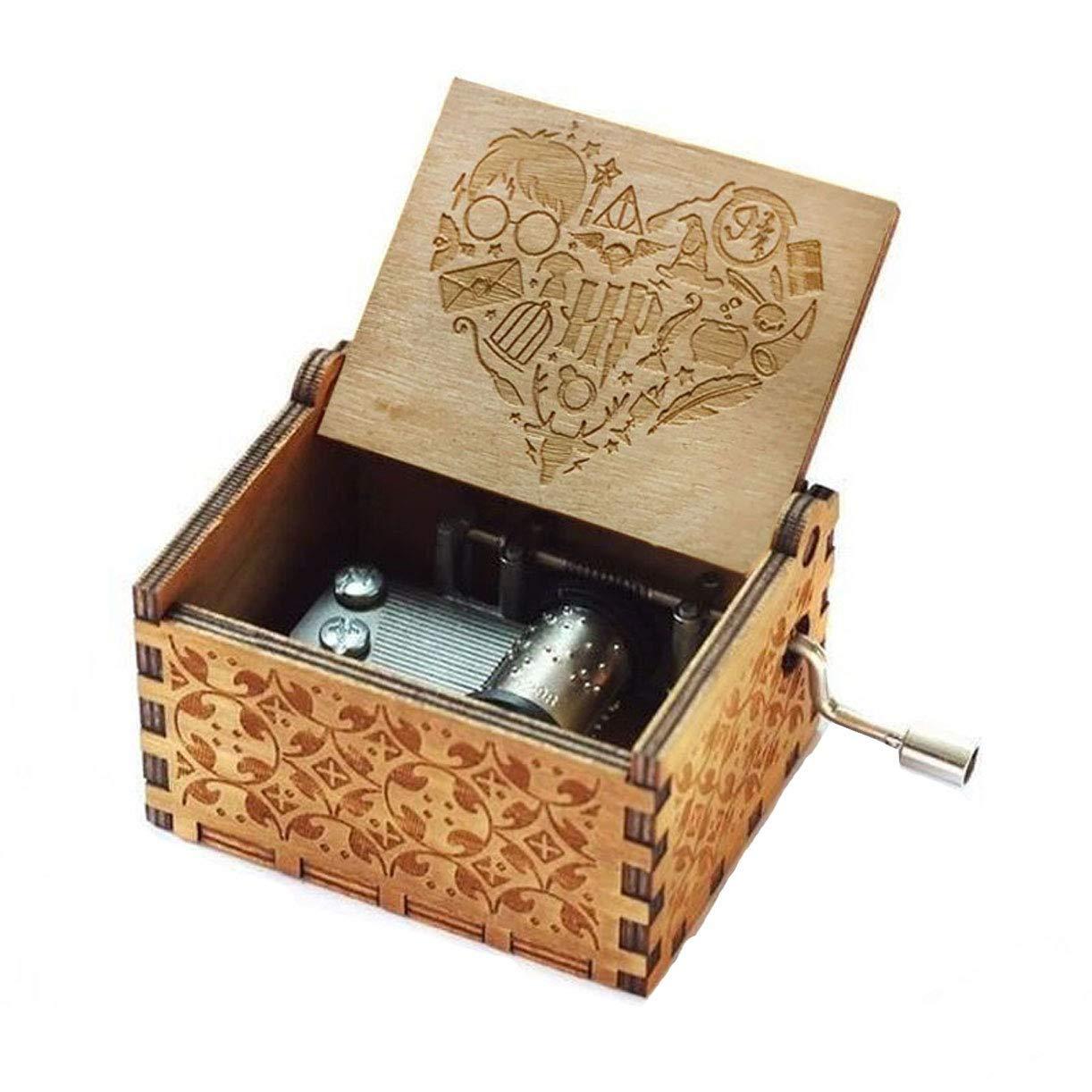 Evelure Caja de música Harry Potter, Crank Music Boxes en Madera ...