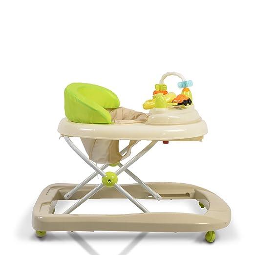Gehfrei Eddy h/öhenverstellbar gepolsteter Sitz mit Spielcenter beige Lauflernwagen