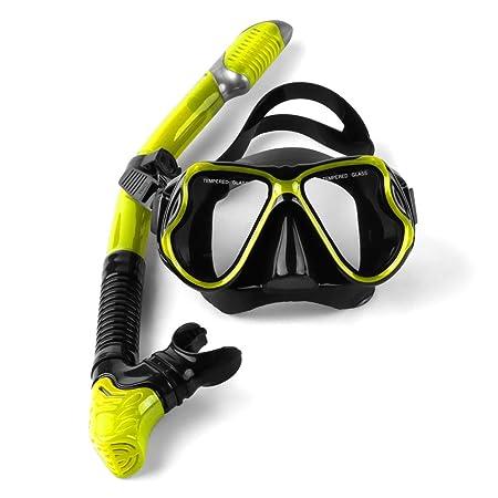 UGI Snorkel Set, Natación Buceo tubo de respiración Buceo Snorkels Máscara Goggles Tubería Tubo de respiración, Adultos Recreación Película antivaho Máscara ...