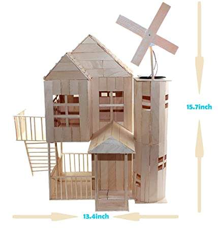 Pica Toys 3d Wooden House With Solar Windmill And Electric Light Physical Circuit Education Building Model Pure Real Wood Science Stem Kit Diy