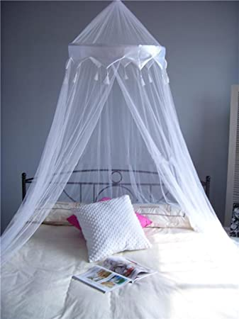 A-Express® White Mosquito Net Bed Canopy Up To King Size 100% Polyester & A-Express® White Mosquito Net Bed Canopy Up To King Size 100 ...