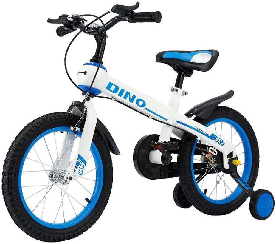 Bxiao Bicicleta para niños de 14 Pulgadas de 3 a 8 años de Edad para Hombres y Mujeres, Bicicleta para niños con Rueda de Entrenamiento y Freno de Mano, se Requiere ensamblaje