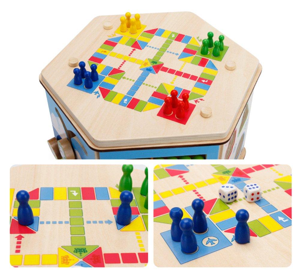 Holzsammlung 7 en 1 Actividades Centro de Juegos en Madera