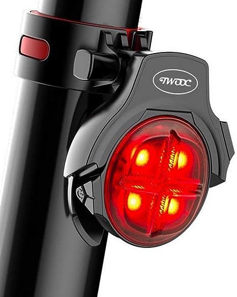 SLZXC Luz Trasera Inteligente para Bicicleta con Sensor de Freno ...