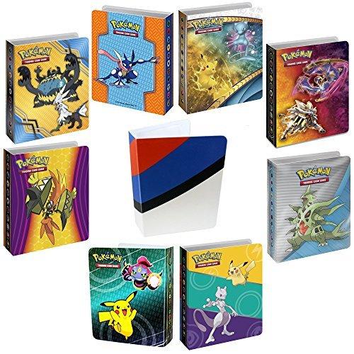 8 Mini Album For Pokemon Cards with Bonus Totem Mini Binder - Sleeves Included