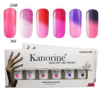 Juego de gel de uñas UV LED de Kanorine, base y capa superior, 10 ml cada uno: Amazon.es: Belleza