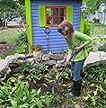 Radius Garden 601 Mini-Ground Hog Ladies Children and Seniors Clean-Up Metal Rake, Small
