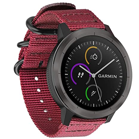 FINTIE Bracelet pour Garmin Vivoactive 3 / Garmin Vivoactive 3 Music/Forerunner 645 Music/Forerunner 245 Montre Connectée: Amazon.fr: High-tech