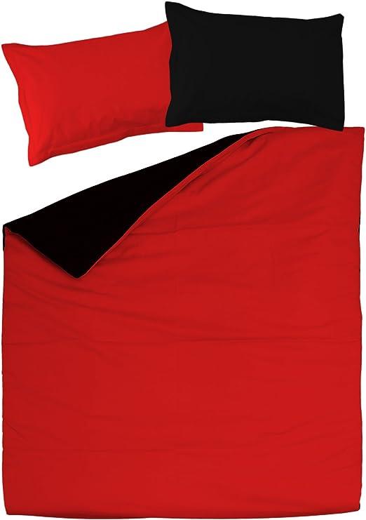 SoulBedroom Black & Red (Negro y Rojo) Juego de Cama Reversible ...